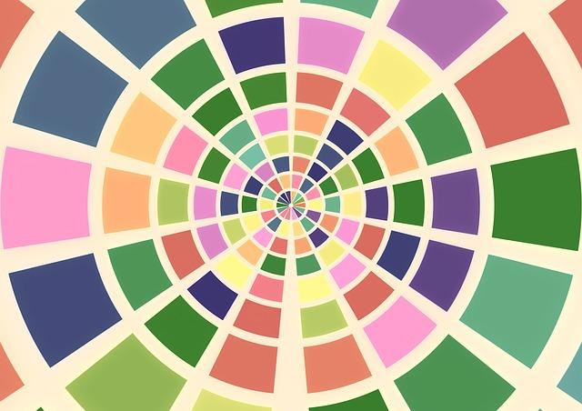 色相環のイラスト